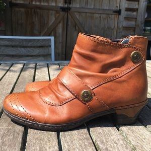 Rieker Leather Water Resistant Ankle Boot